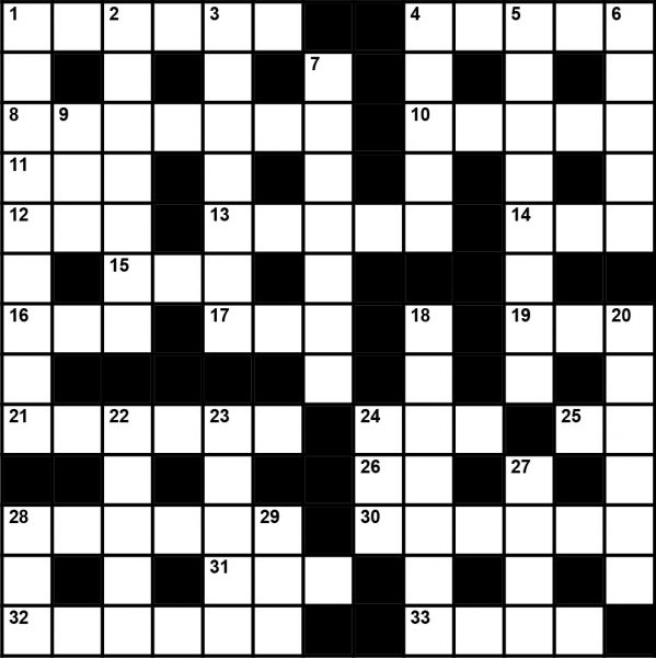 September 2019 Crossword Puzzle