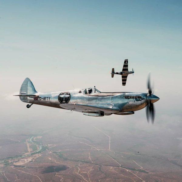 Video: Spitfire Flight Around The World Lands In California!