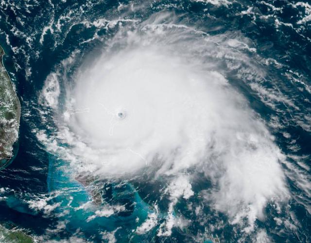Hurricane Dorian (peak intensity), September 1