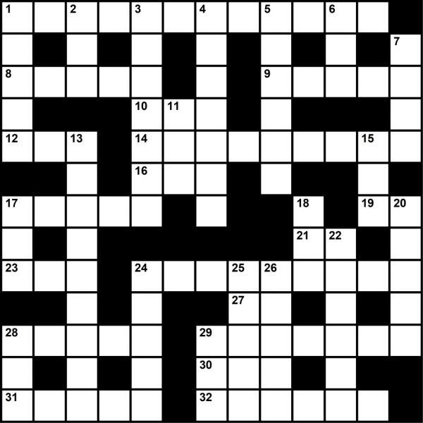 Crossword Puzzle, October 2019