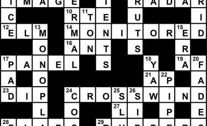 October 2019 Crossword Key