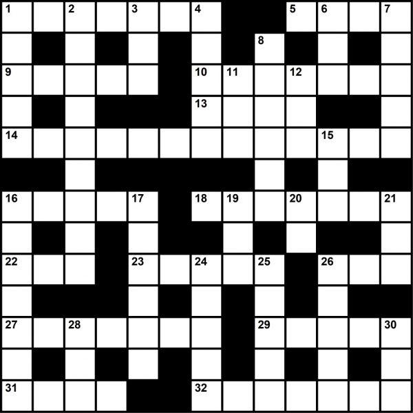 Crossword Puzzle, November 2019