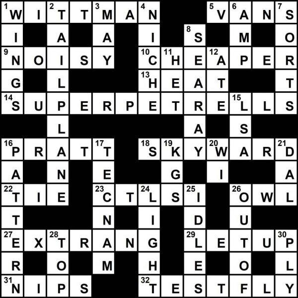 Crossword Key, November 2019