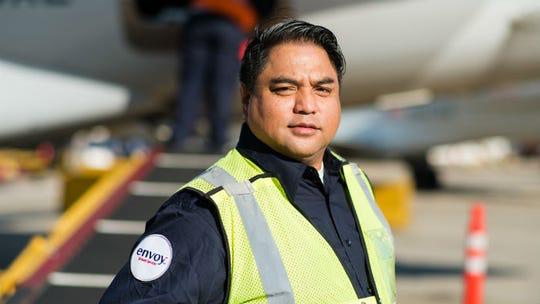 Jorge Manalang at O'Hare International Airport