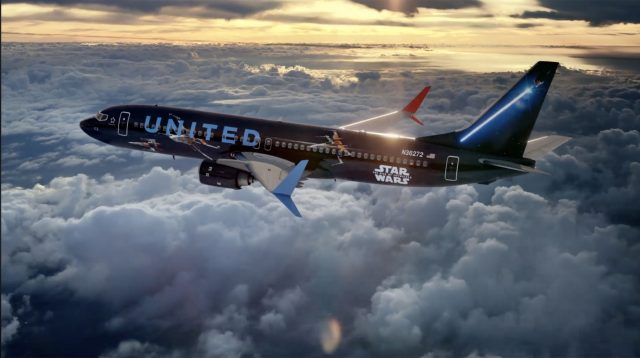United Airlines Star Wars-themed plane