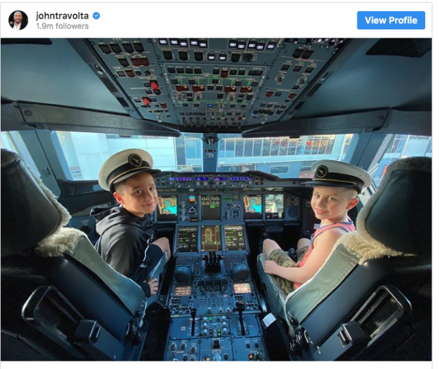 John Travolta Is Really Into His Kid Being A Pilot