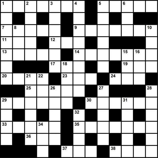 Crossword Puzzle, December 2019