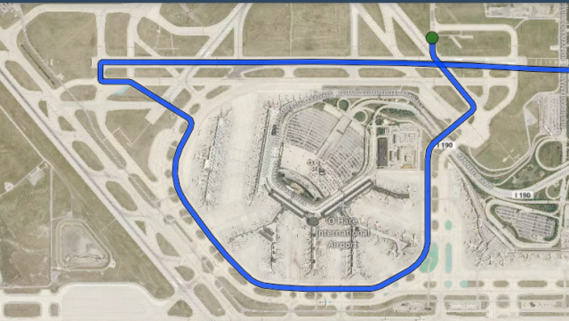 Taxi pattern at Chicago O'Hare