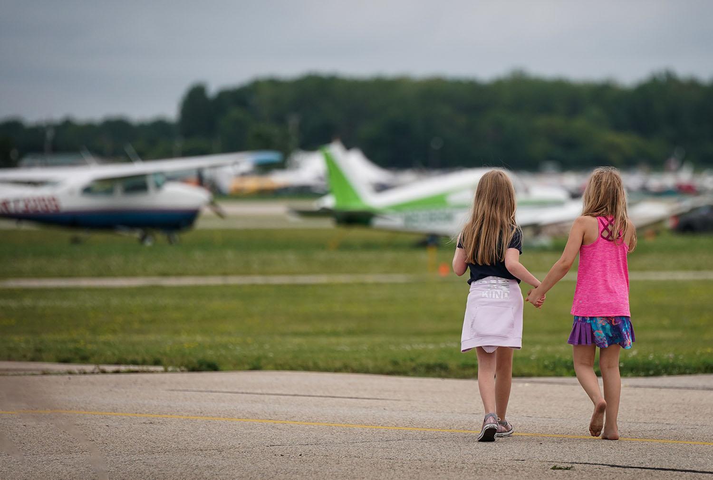 Kids at EAA AirVenture Oshkosh