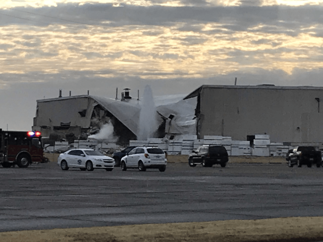 A Textron Aviation manufacturing facility after an explosion there on Friday, December 27.