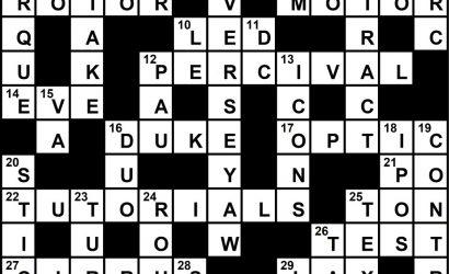 February 2020 Crossword Key