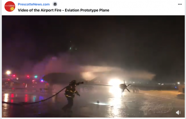 Electric Plane Catches Fire Last Night