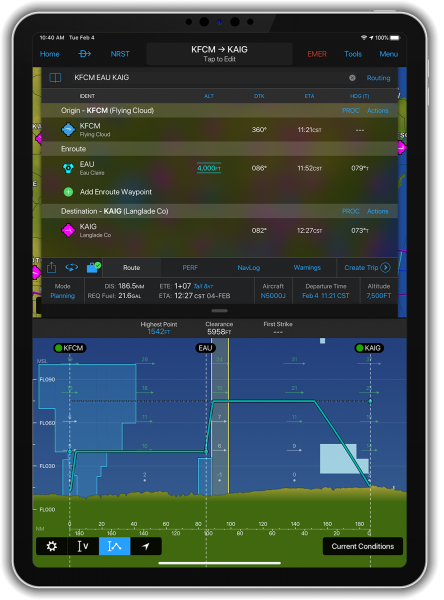 Vertical Planning with the Garmin Pilot App