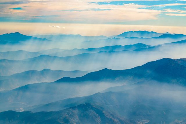 Aerial view of the Andes Mountains
