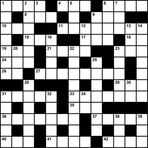Crossword Puzzle from Plane & Pilot's March 2020 Issue