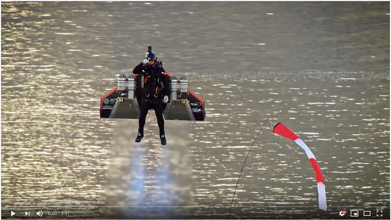 Jet-Powered Human, Ground Launched And Landed! You Will Not Believe What You're Seeing