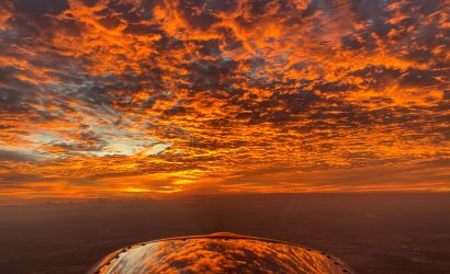 """Fiery Sunrise Over Texas,"" by Jon Hicks, the grand prize winner of the 2019 Your Flying World Contest"