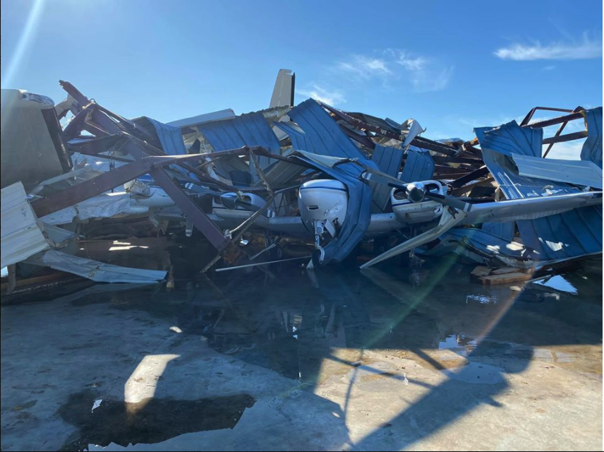 Powerful Tornado Wreaks Havoc At Arkansas Airport