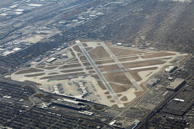 Aerial view of Chicago Midway Airport
