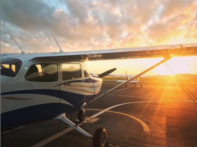 A Cessna Skyhawk trainer at Embry Riddle Aeronautical University.