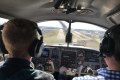 Nathan Bishop flying a complex aircraft