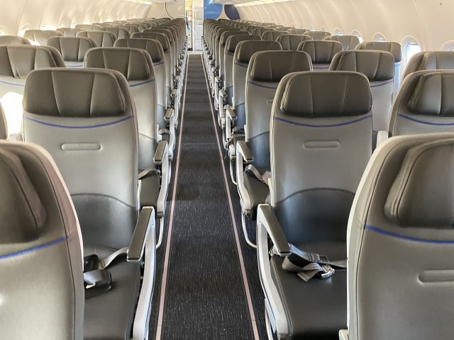 An empty airliner