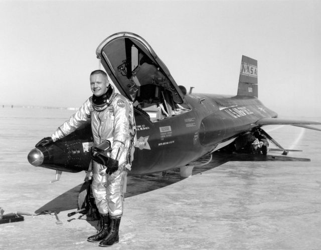Neil Armstrong with a North American X-15