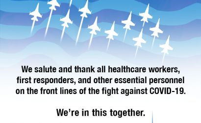 Thunderbirds, Blue Angels Unite In Salute to COVID-19 Responders