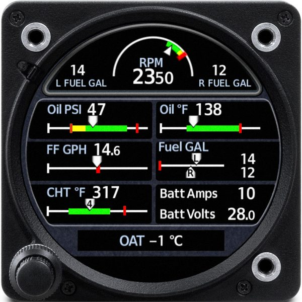 Garmin GI 275 engine information