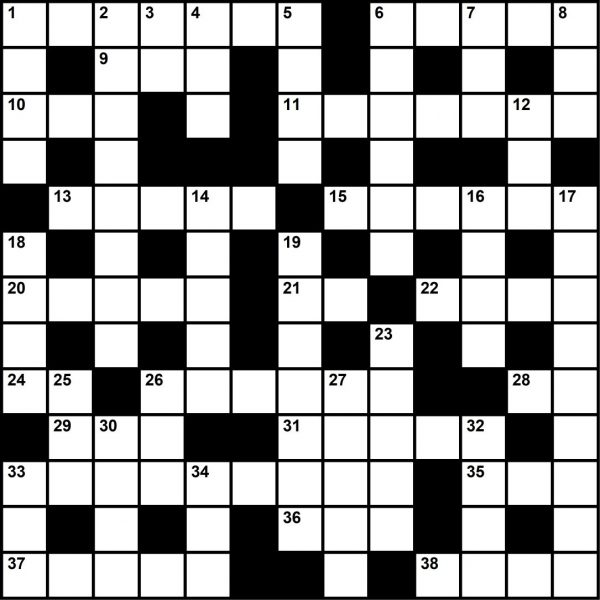 May 2020 Crossword