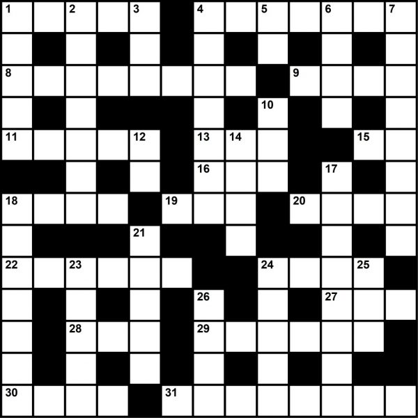 June 2020 Crossword Puzzle