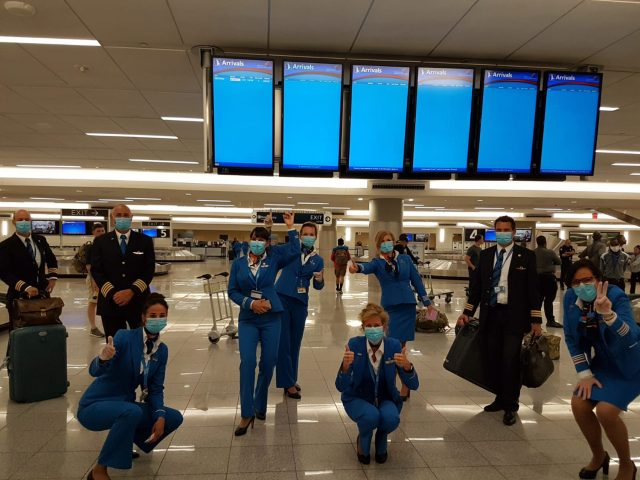 The crew of KLM flight KL 621