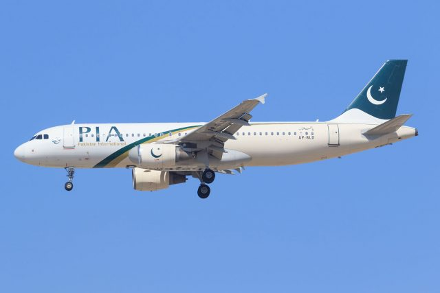 A Pakistan International Airlines A320 similar to the one that crashed in Karachi on Friday.
