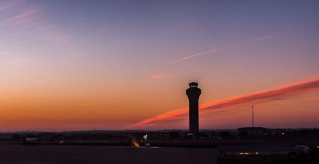 The Austin Bergstrom International Airport Air Traffic Control Tower