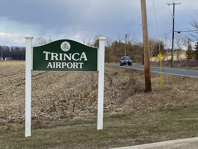 Trinca Airport Sign