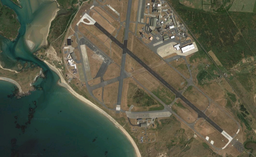 Google Earth image of RAF Valley
