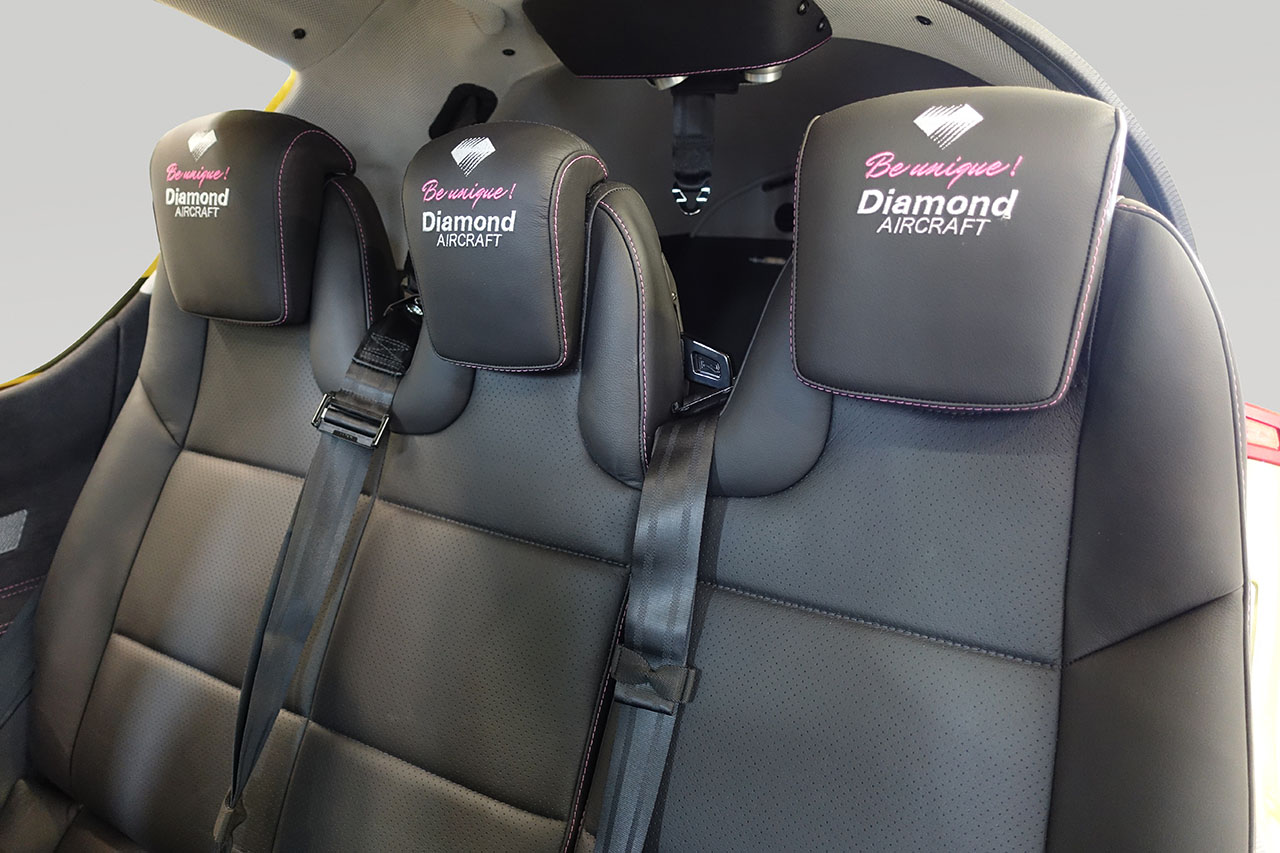 The third row of seats in the Diamond DA50.