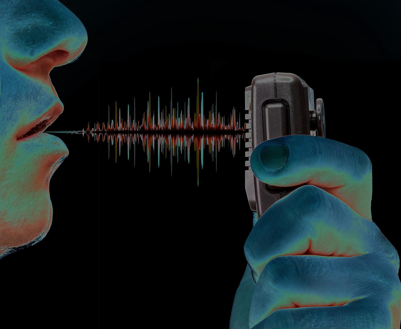 Talking on the radio