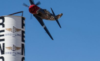 Pilot flying at the National Championship Air Races in Reno, Nevada.