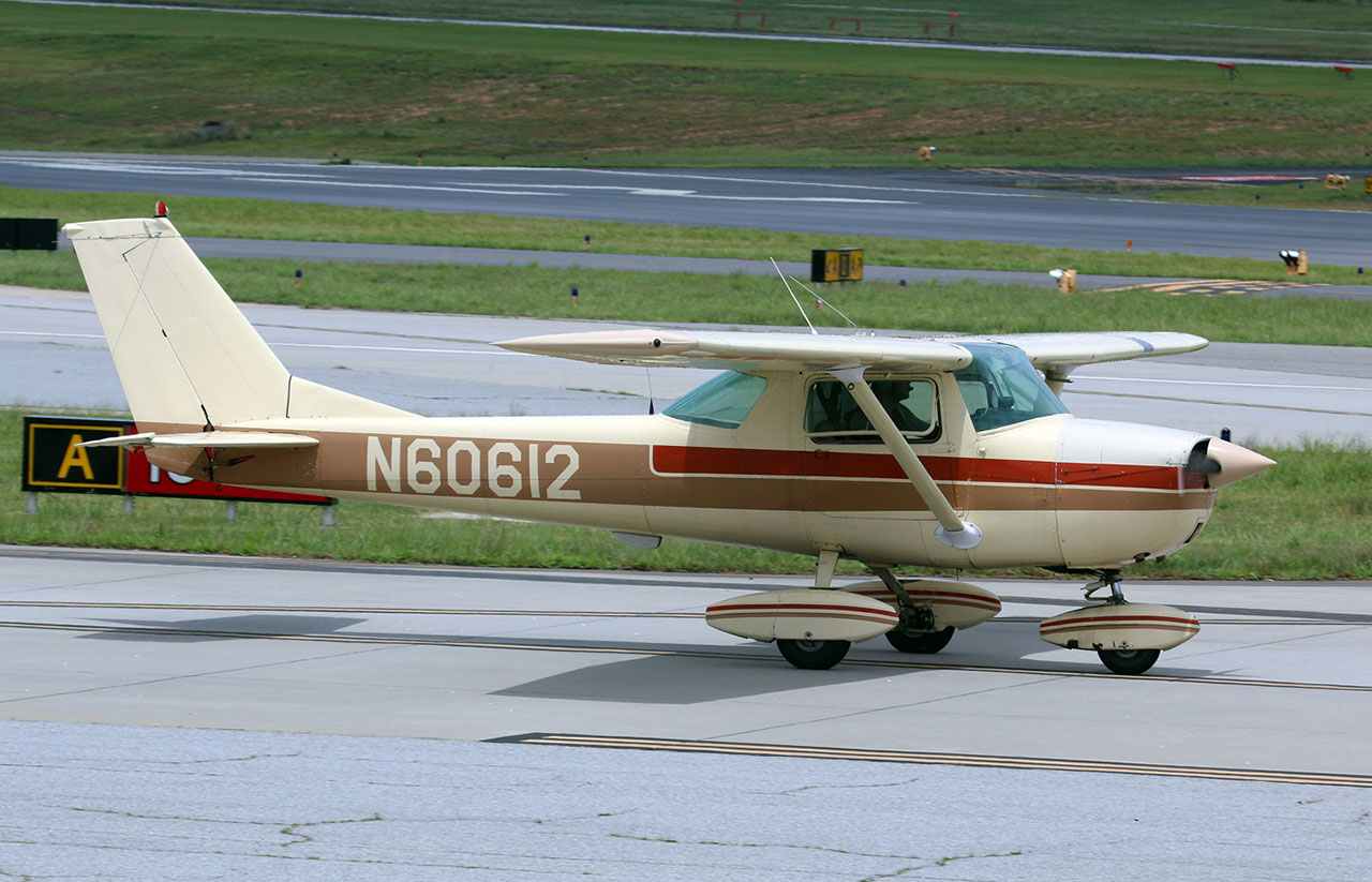 1969 Cessna 150. Photo by Pete Webber via Flickr