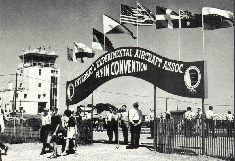A shot of the arched gateway entrance at the first modern EAA AirVenture Oshkosh in 1970. Photo courtesy of EAA