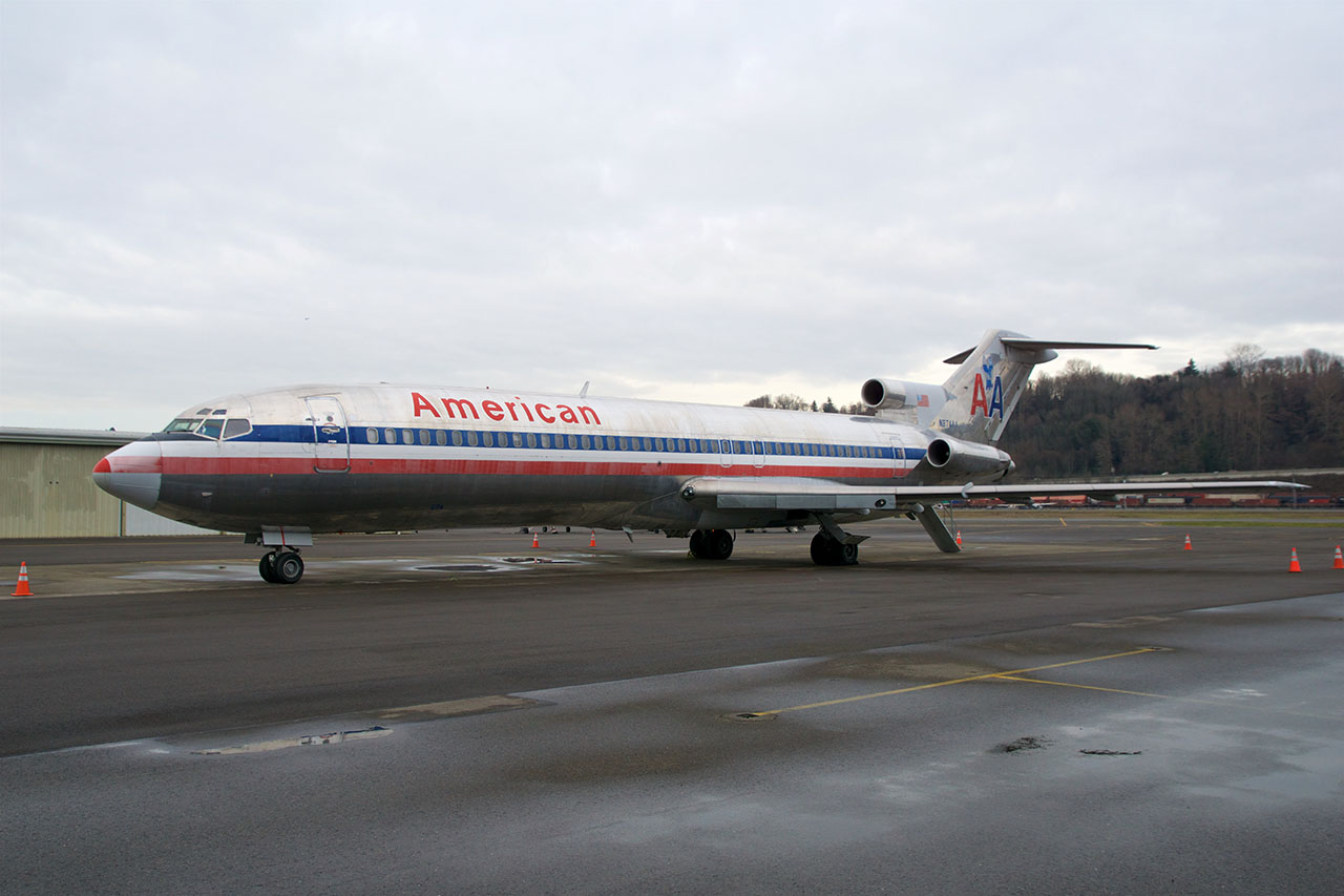 A Boeing 727 trijet similar to the one that mysteriously went missing in Angola in the early 2000s.