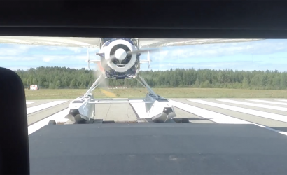 Video Of The Week: How Scary Is This Cessna 195 Trailer Takeoff!