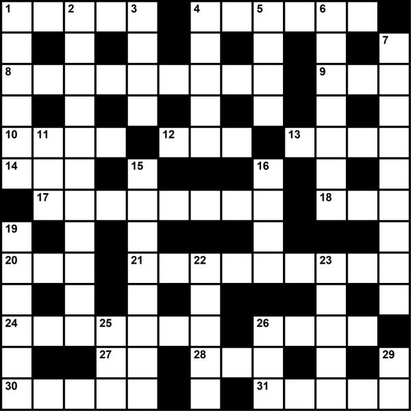 August 2020 Crossword