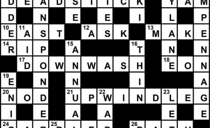 August 2020 Crossword Key
