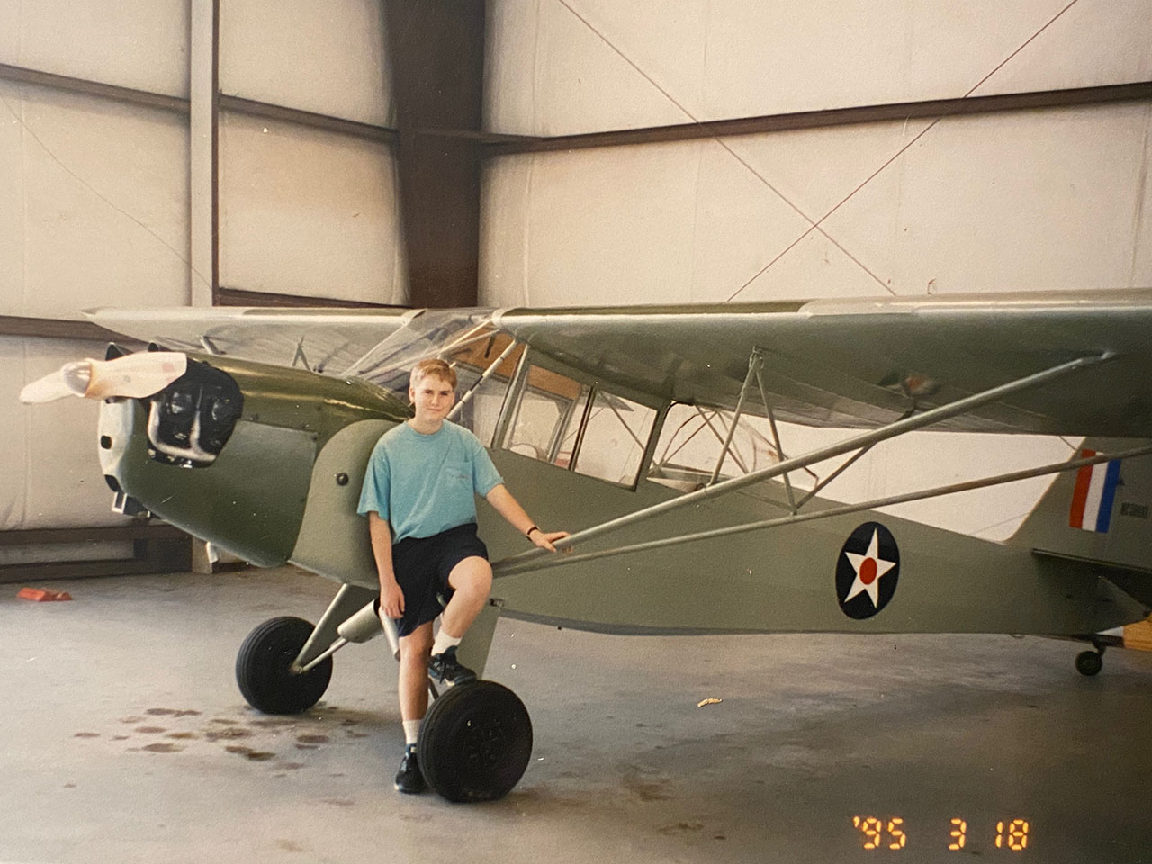 Jeremy King as a young airplane nut.