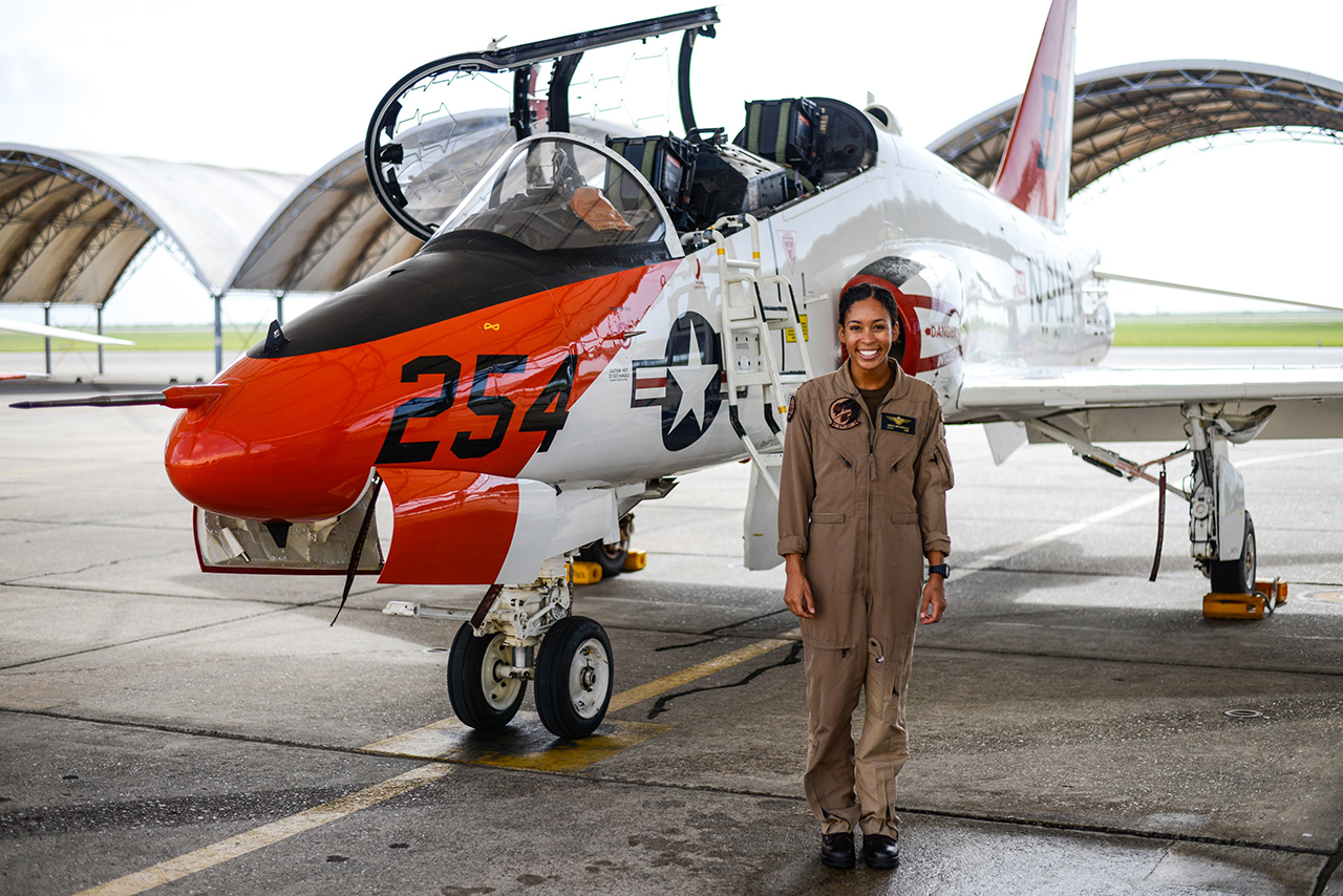 Lt. J.G. Madeline Swegle. Photo courtesy of the U.S. Navy