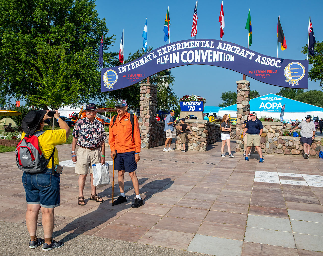 The arched gateway entrance at EAA AirVenture Oshkosh.