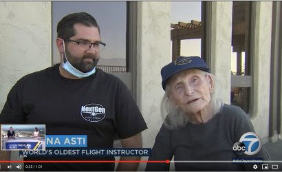 World's Oldest CFI Gives A Lesson
