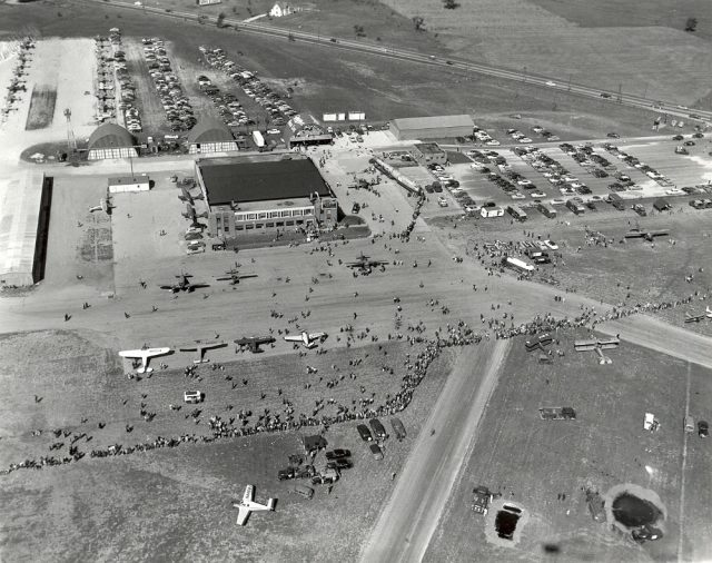 The inaugural AirVenture at Timmerman Field in Milwaukee, circa 1953.